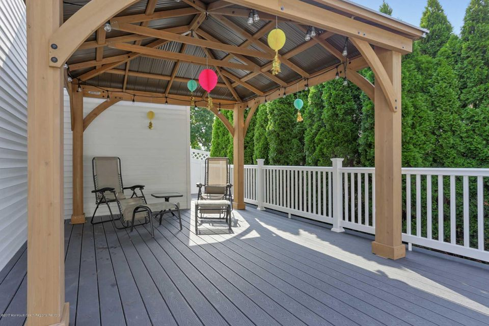 Covered area of deck