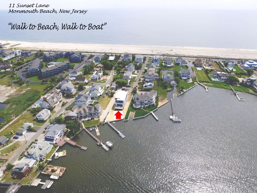 Maison unifamiliale pour l Vente à 11 Sunset Lane 11 Sunset Lane Monmouth Beach, New Jersey 07750 États-Unis