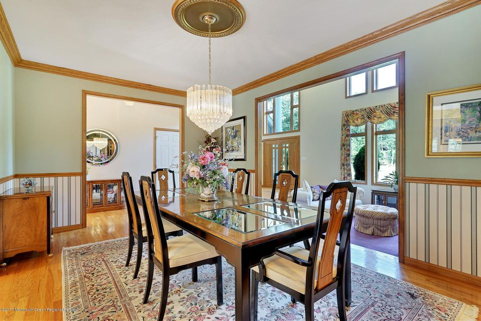 formal open dining room