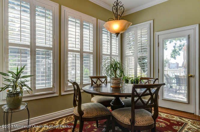 Dining Area w/Plantation Shutters