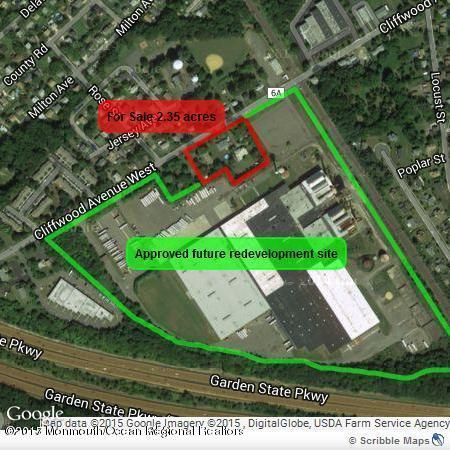 Land for Sale at 193 Cliffwood Avenue Cliffwood, New Jersey 07721 United States