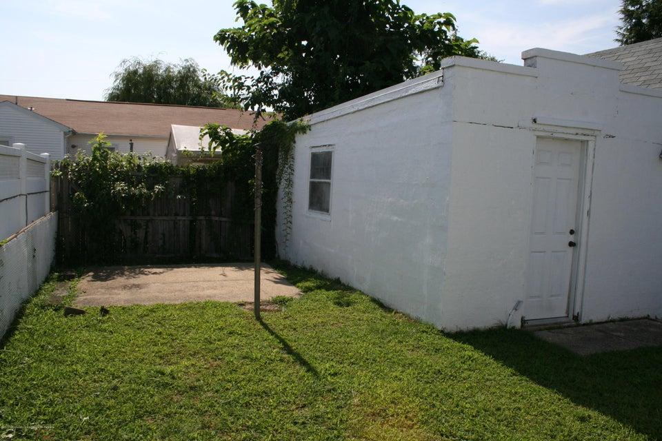 Yard next to garage