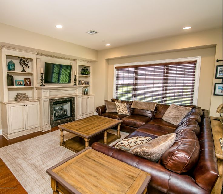 Living Room w/custom wall unit