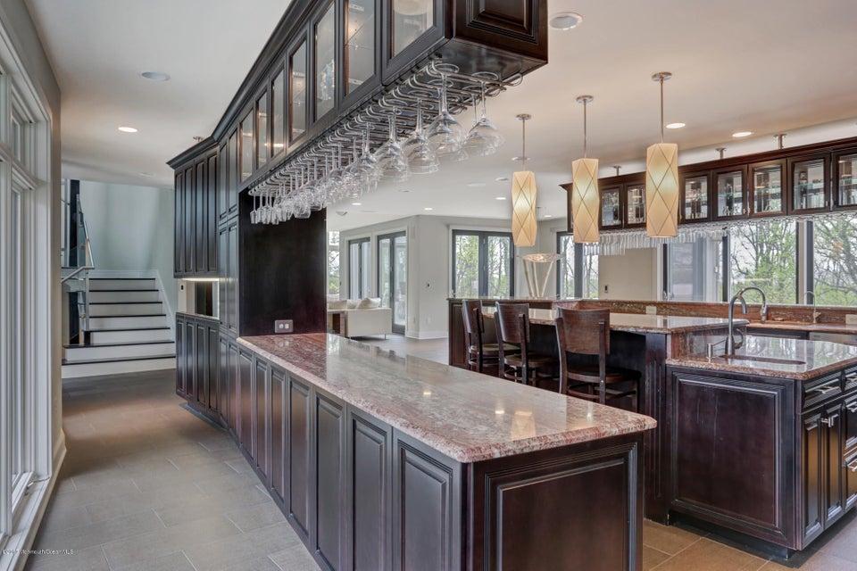 Kitchen floats between walls of windows