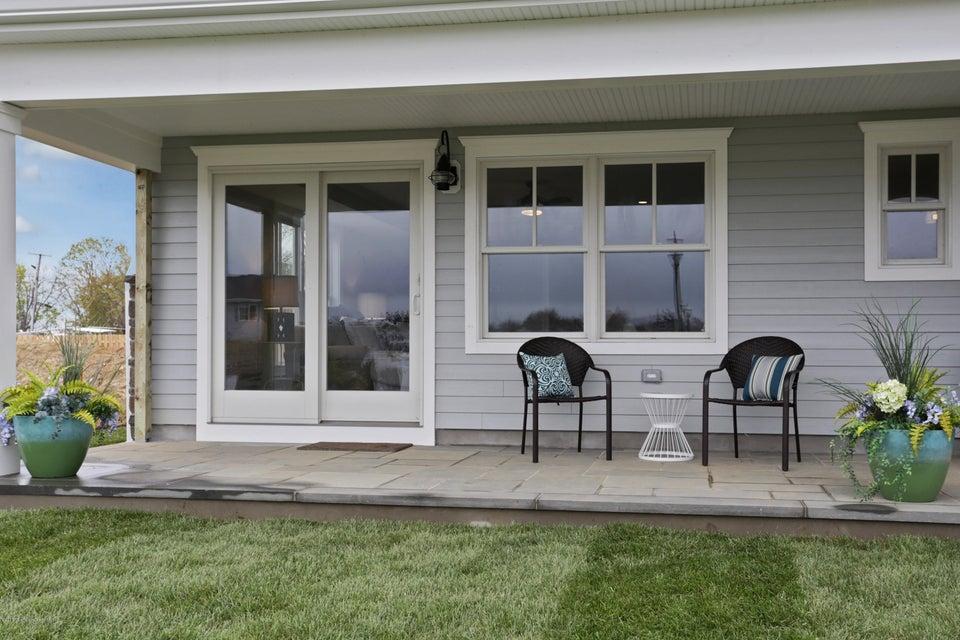 Blue stone porch