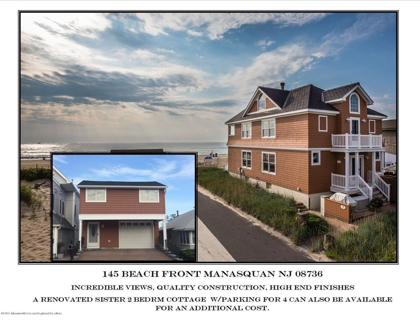 Single Family Home for Sale at 145 Beach Front 145 Beach Front Manasquan, New Jersey 08736 United States