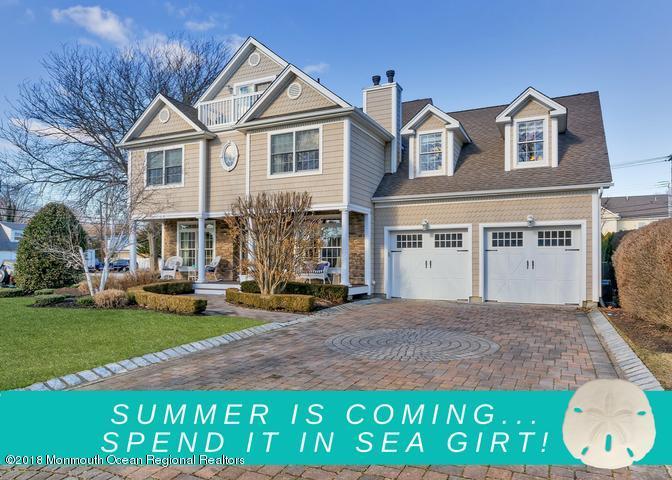 Single Family Home for Sale at 417 Washington Boulevard 417 Washington Boulevard Sea Girt, New Jersey 08750 United States