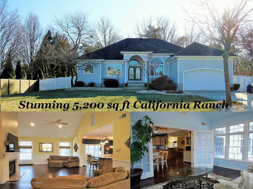 一戸建て のために 売買 アット 732 Princeton Road 732 Princeton Road Lanoka Harbor, ニュージャージー 08734 アメリカ合衆国