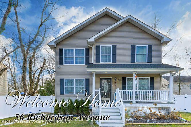 独户住宅 为 销售 在 56 Richardson Avenue 56 Richardson Avenue 伊顿敦, 新泽西州 07724 美国