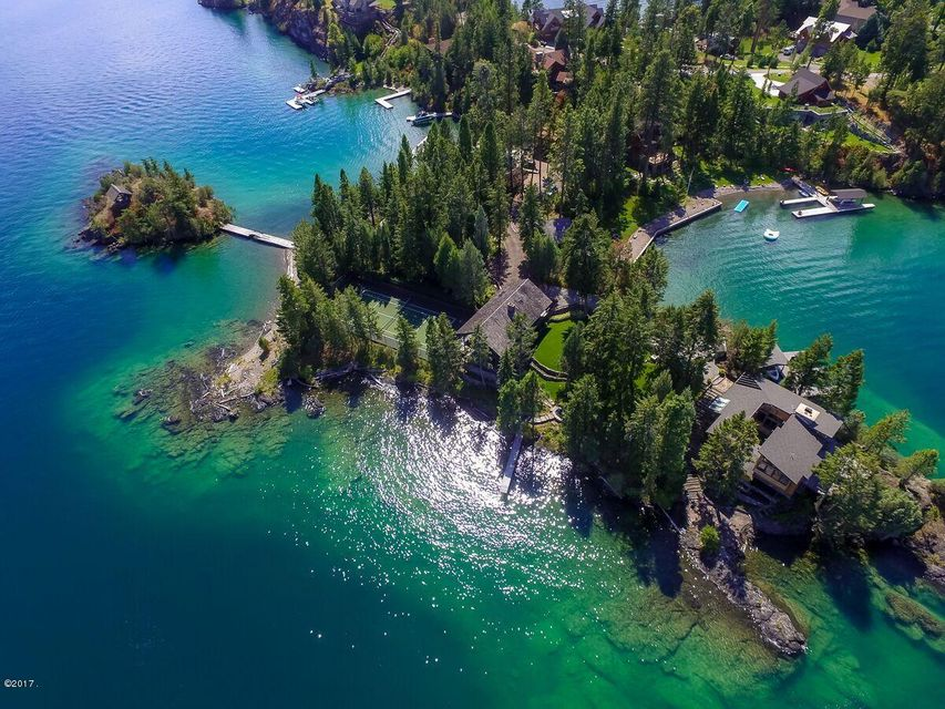 独户住宅 为 销售 在 Jewel of Flathead Lake Angel Point Road Lakeside, 蒙大拿州,59922 美国