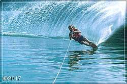 Water-skiing on Lake Five