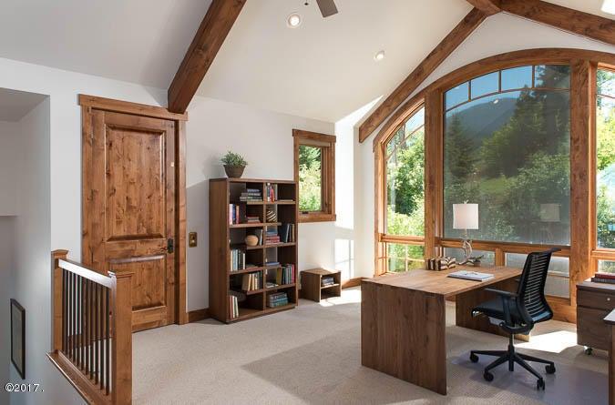 Loft office area with 3/4 bathroom