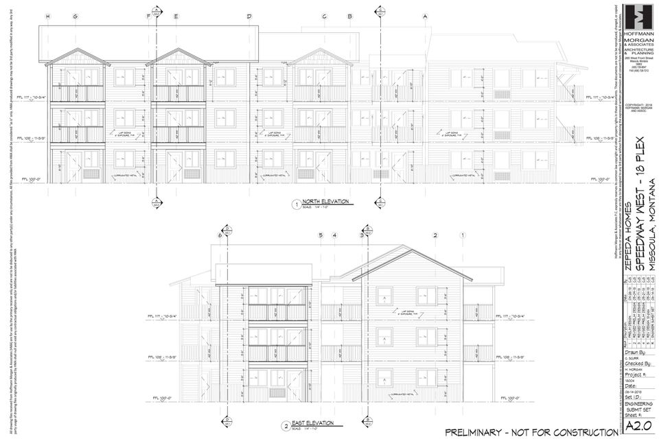 A2.0 - Building Elevations