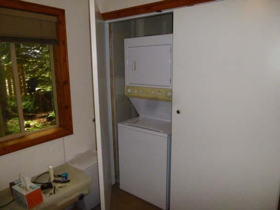 Cottage stackable washer and dryer