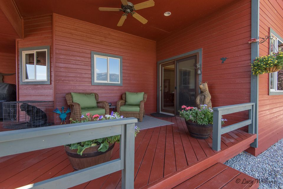 Covered Porch with Ceiling Fan