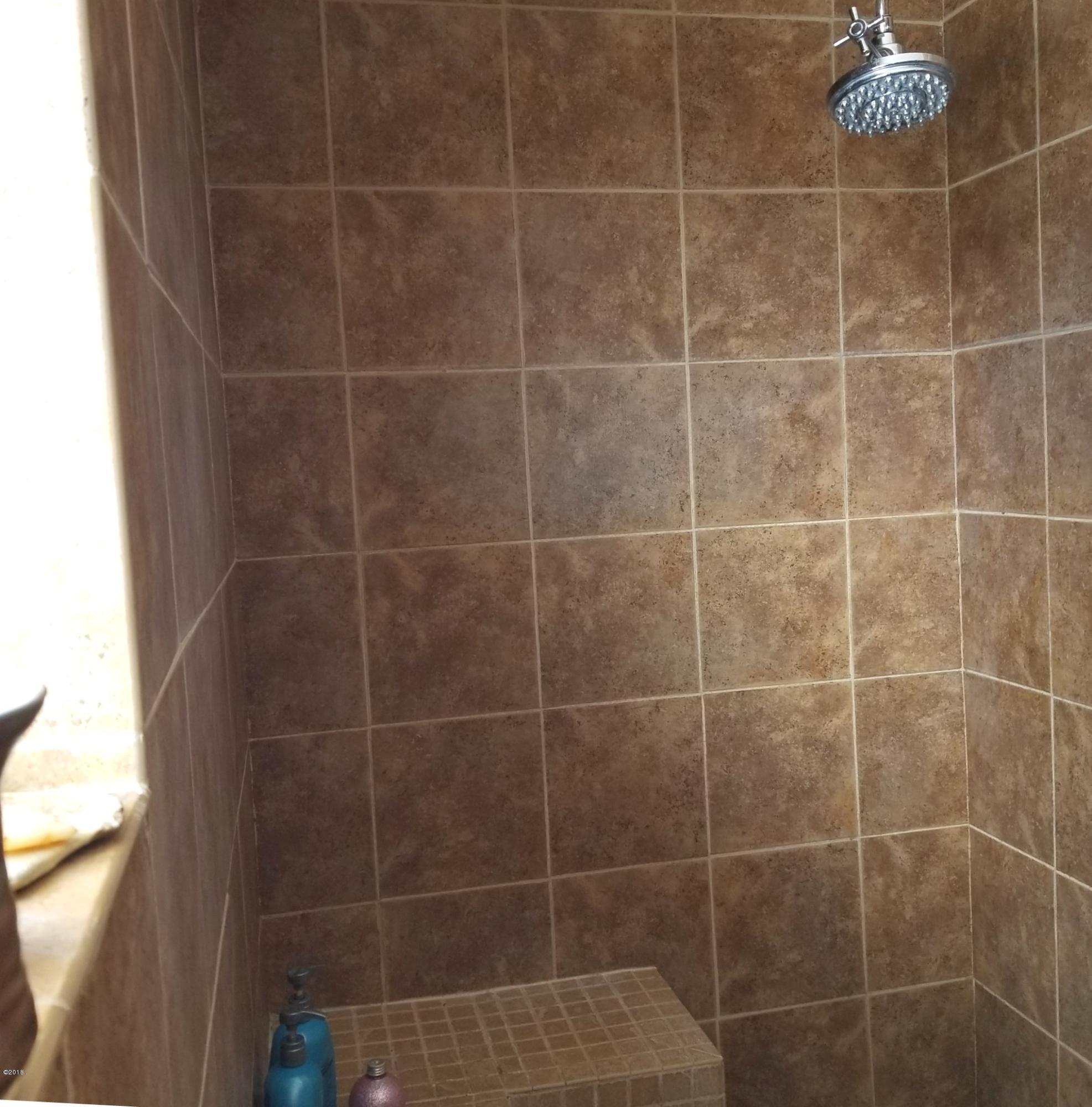 full tiled shower on Main