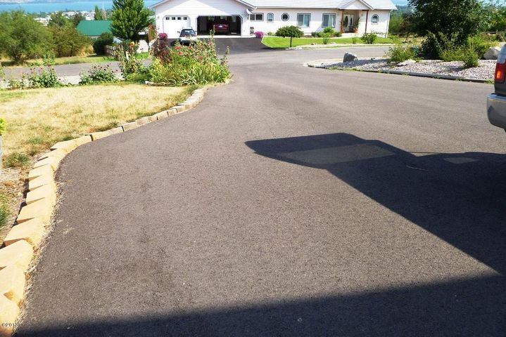 paved drive and newly paved street