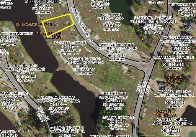 154 Sycamore Lakes Drive,Wallace,North Carolina,Residential land,Sycamore Lakes,30524401