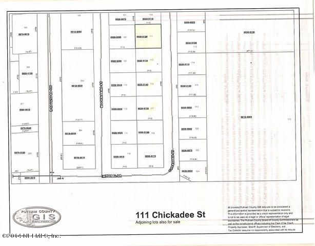 111 CHICKADEE,INTERLACHEN,FLORIDA 32148,Vacant land,CHICKADEE,740913
