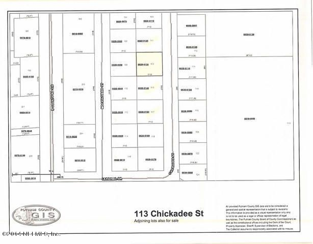 113 CHICKADEE,INTERLACHEN,FLORIDA 32148,Vacant land,CHICKADEE,740912