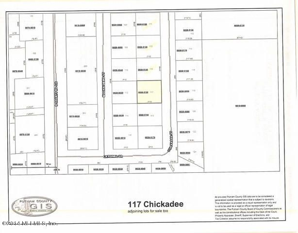 117 CHICKADEE,INTERLACHEN,FLORIDA 32148,Vacant land,CHICKADEE,740916