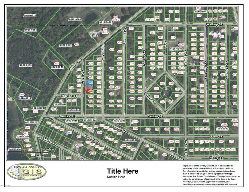 110 CAROL, INTERLACHEN, FLORIDA 32148, ,Vacant land,For sale,CAROL,815772