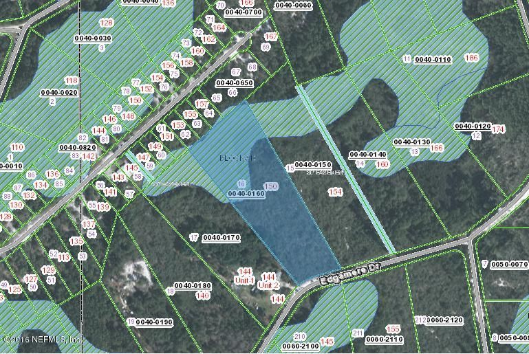 150 EDGEMERE, GEORGETOWN, FLORIDA 32139, ,Vacant land,For sale,EDGEMERE,824921