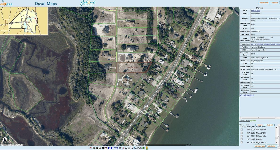 9119 WOODSMAN COVE,JACKSONVILLE,FLORIDA 32226,Vacant land,WOODSMAN COVE,838083