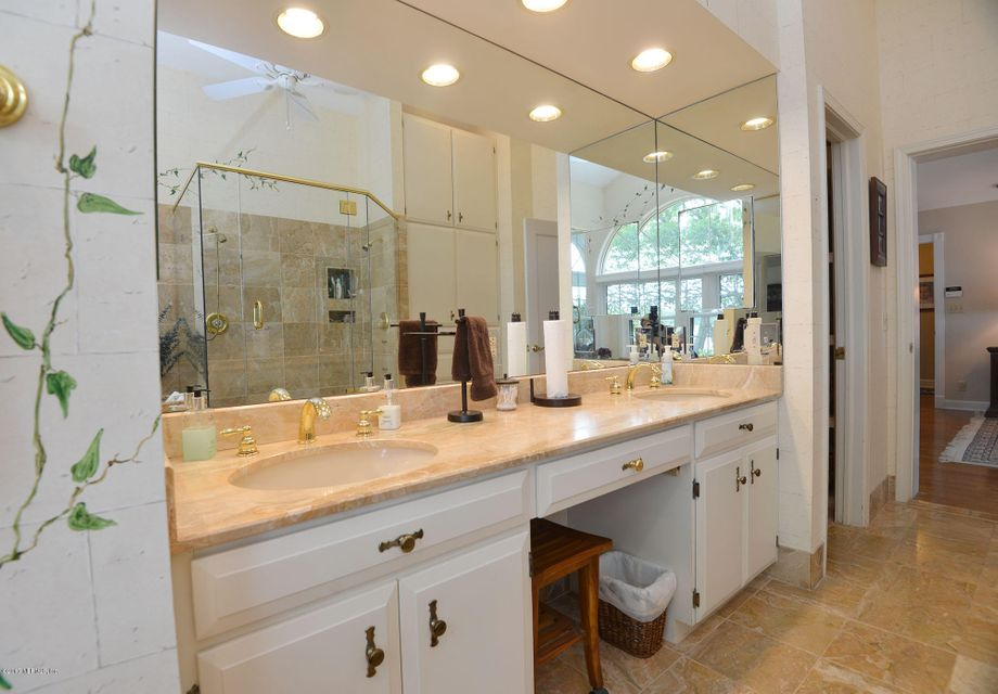 Vanity area between double sinks