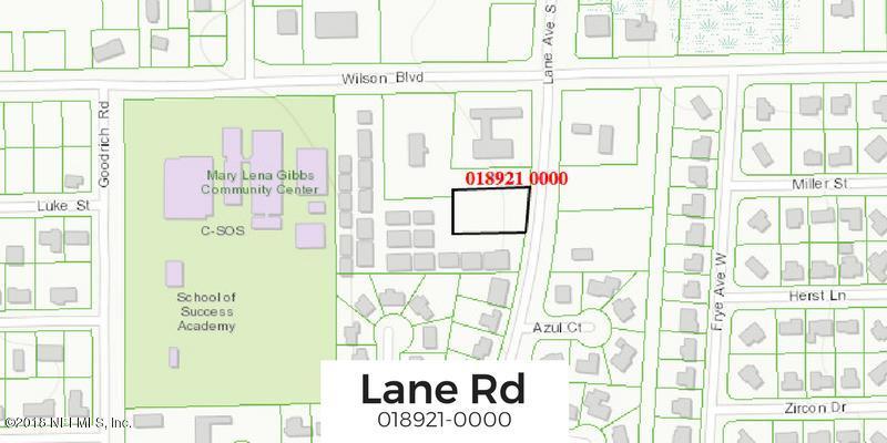 LANE,JACKSONVILLE,FLORIDA 32210,Vacant land,LANE,923459