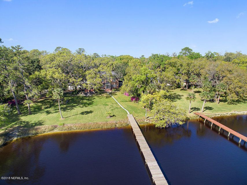 Aerial View of Back of House and Dock