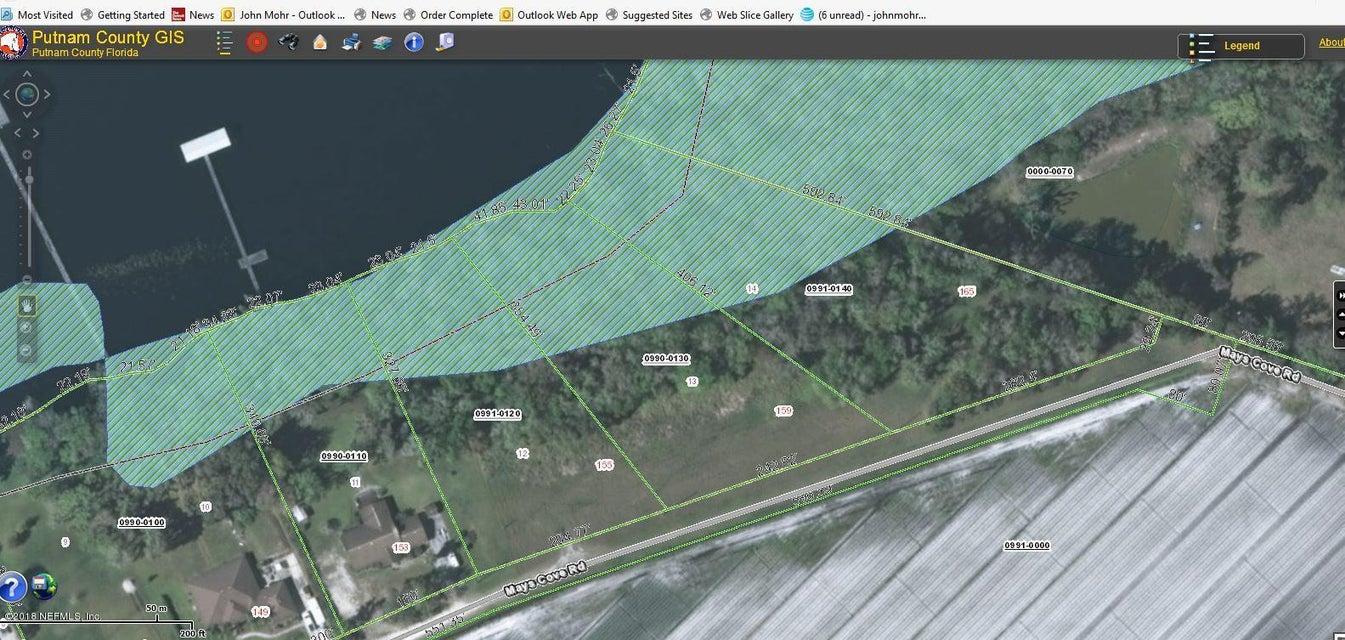 159 MAYS COVE,EAST PALATKA,FLORIDA 32131,Vacant land,MAYS COVE,926620