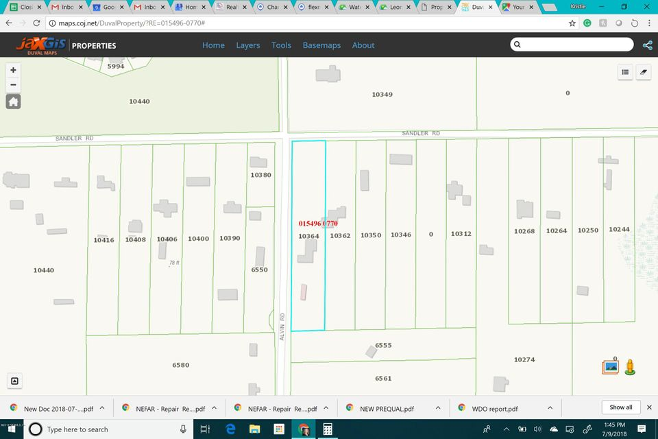 10364 SANDLER, JACKSONVILLE, FLORIDA 32222, ,Vacant land,For sale,SANDLER,946048