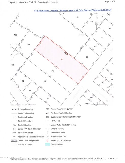 Land for Sale at 66 Dalemere Road Staten Island, New York 10304 United States