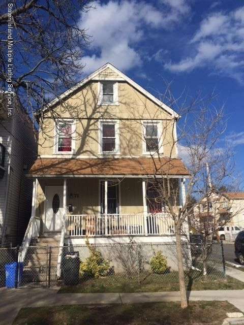 Single Family Home for Sale at 73 Irving Place Staten Island, New York 10304 United States