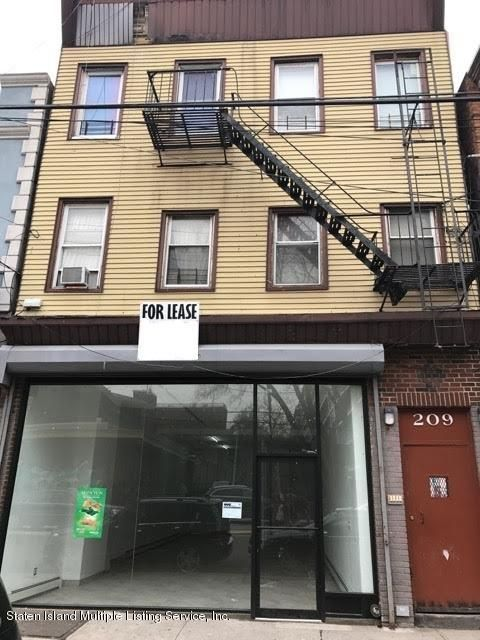 Commercial for Rent at 209 Broad Street Staten Island, New York 10304 United States