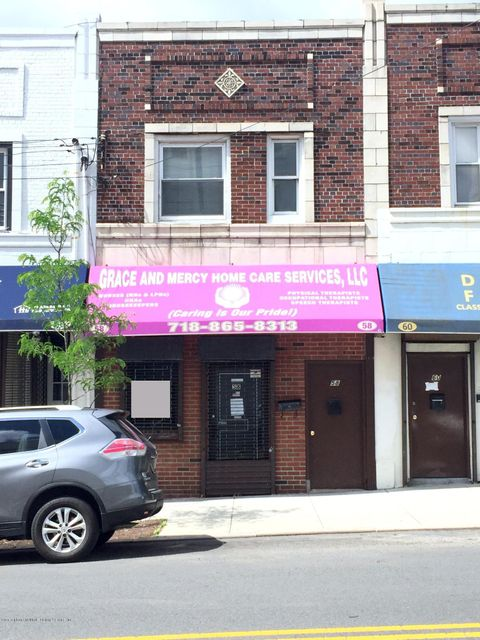 Commercial for Rent at 58 Beach Street Staten Island, New York 10304 United States