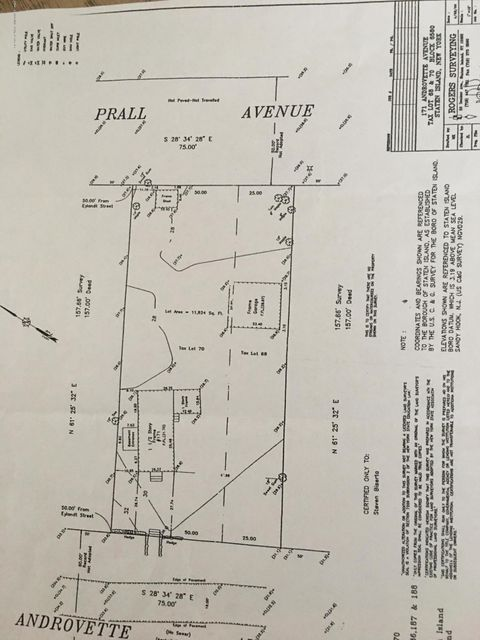 Land for Sale at 171 Androvette Avenue Staten Island, New York 10312 United States