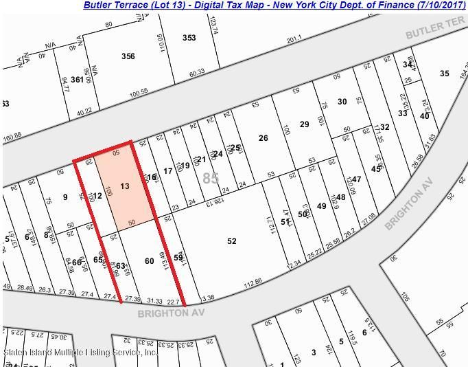 Land for Sale at 0 Butler Terrace Staten Island, New York 10301 United States