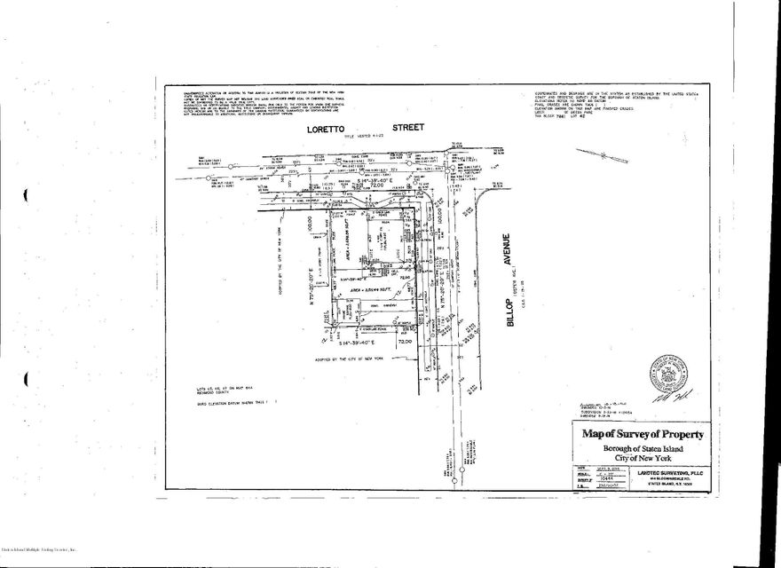 Land for Sale at 412 Loretto Street Staten Island, New York 10307 United States