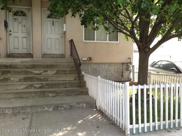 Single Family Home for Sale at 506 Jersey Street Staten Island, New York 10301 United States
