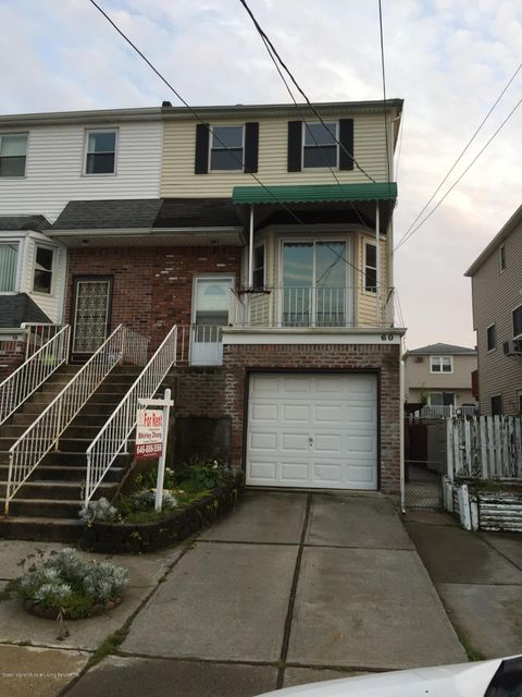 Single Family Home for Rent at 60 Mcveigh Avenue Staten Island, New York 10314 United States