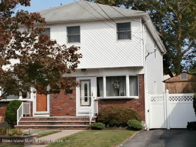 Single Family Home for Sale at 45 Tremont Avenue Staten Island, 10314 United States