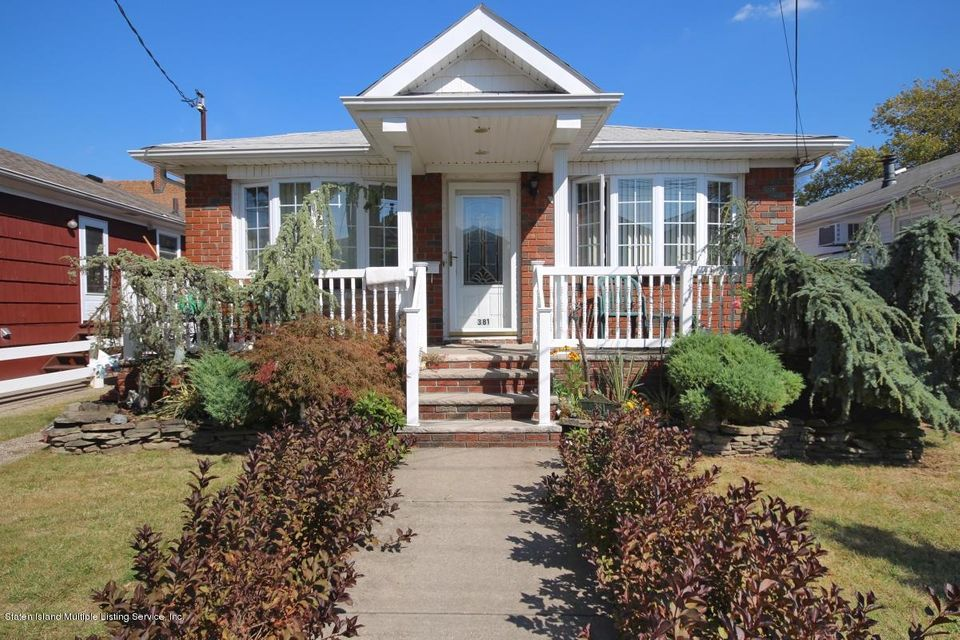 Single Family Home for Sale at 381 Adelaide Avenue Staten Island, New York 10306 United States
