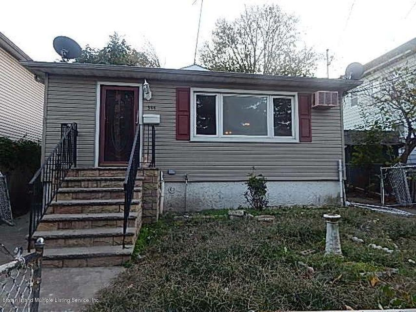 Single Family Home for Sale at 344 Hillside Avenue Staten Island, New York 10304 United States