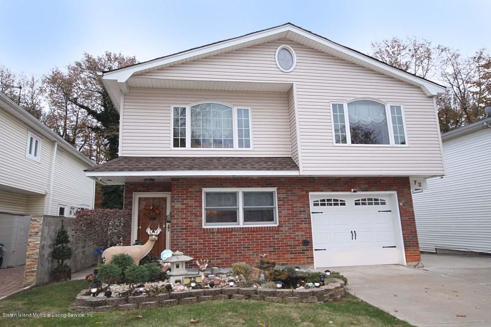 Single Family Home for Sale at 72 Ionia Avenue Staten Island, New York 10312 United States
