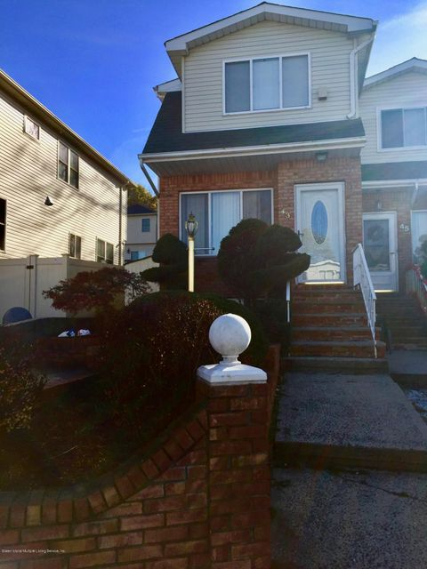 Single Family Home for Rent at 43 Bogota Street Staten Island, New York 10314 United States