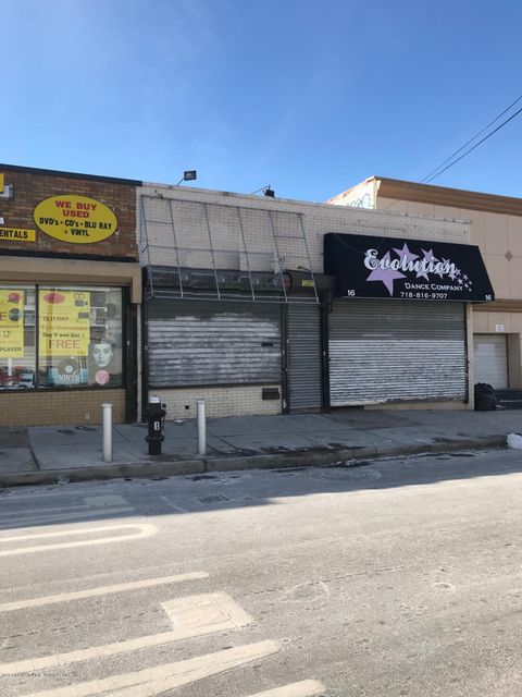 Commercial for Rent at 16 Barrett Avenue Staten Island, New York 10302 United States