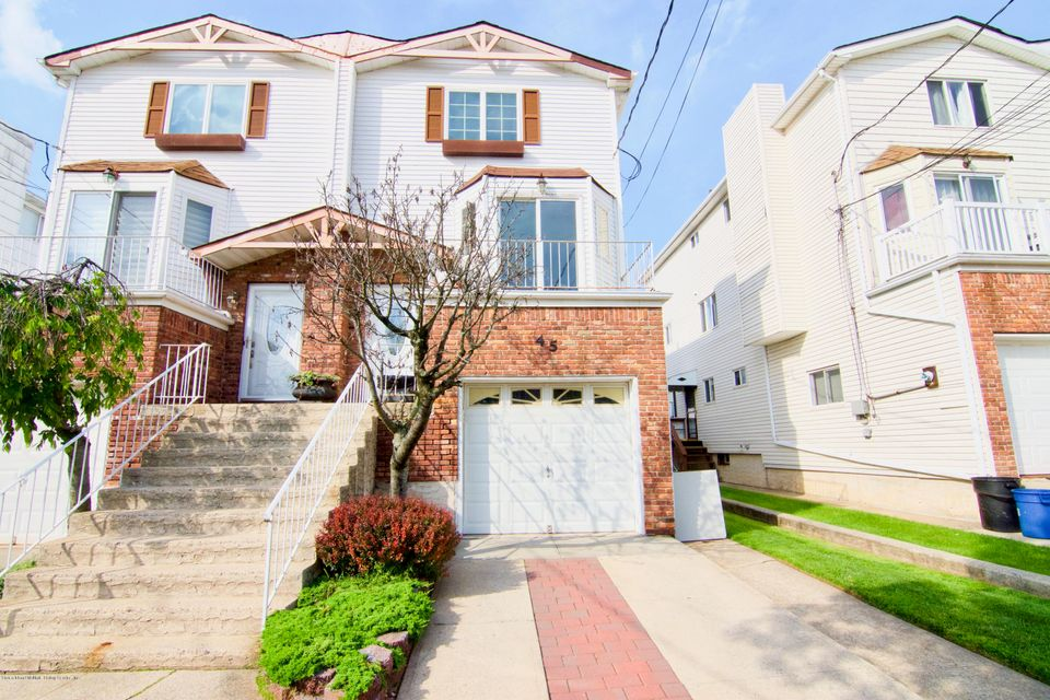 Single Family - Semi-Attached in New Springville - 45 Braisted Avenue  Staten Island, NY 10314