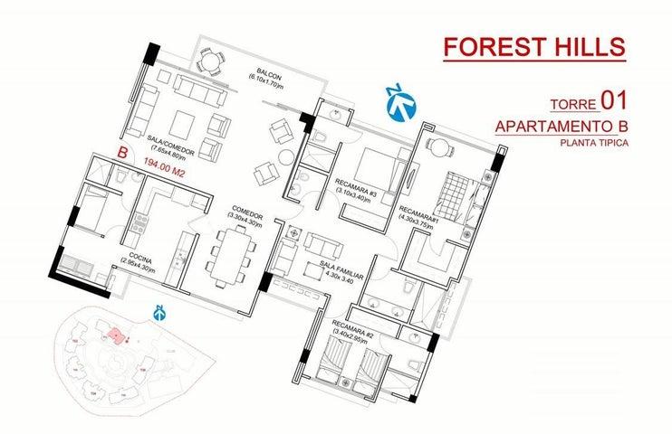 PANAMA VIP10, S.A. Apartamento en Venta en Albrook en Panama Código: 15-572 No.4